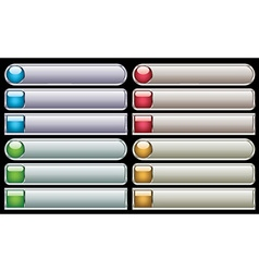 Internet glossy buttons vector