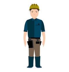 Isolated civil engineer avatar vector