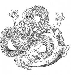 Japanese dragon vector image