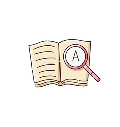 language translation line icon a book with vector image