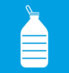 Large bottle of water icon white vector