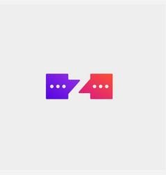 Letter z chat logo design template vector