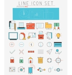 Line icons set Web design elements and vector