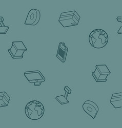 Logistics outline isometric pattern vector