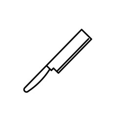 long cleaver icon vector image