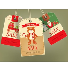 Merry Christmas Sale Tags vector image