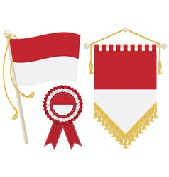 monaco flags vector image