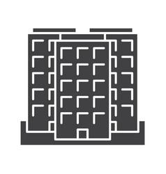 Multi-storey building glyph icon vector