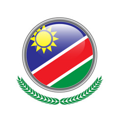namibia flag button namibia flag icon of namibia vector image