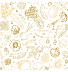 organic food design template pastel vegetables vector image