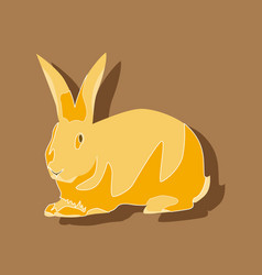 Paper sticker on stylish background rabbit vector