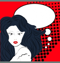 pop art illustration with woman vector image