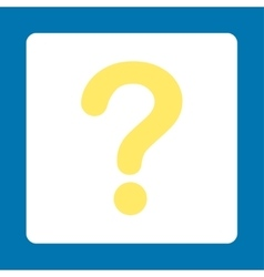 Question flat yellow and white colors rounded vector