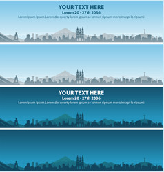 quito skyline event banner vector image