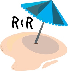 R R Umbrella vector