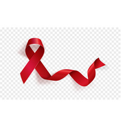 Realistic red ribbon world aids day symbol 1 vector
