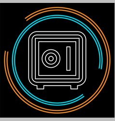 safe box icon - security vector image