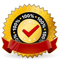 Satisfaction warranty label vector
