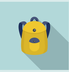 school backpack icon flat style vector image