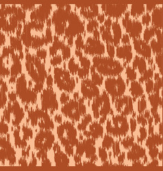 seamless leopard wild nature embroidery pattern vector image