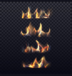 set isolated realistic bonfire or 3d flame vector image