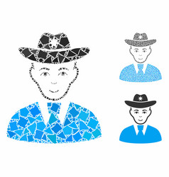Sheriff composition icon inequal parts vector