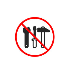 Spanner hammer and screwdriver icon repair vector