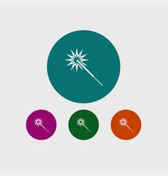 sparkler icon simple vector image