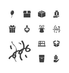 Surprise icons vector