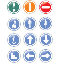 traffic symbols vector image