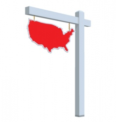 usa on sale sign vector image