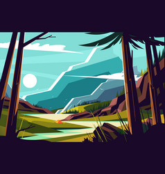 vacation in mountains vector image