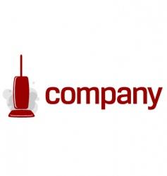vacuum cleaner logo vector image