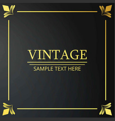 vintage poster sample text on black vintage vector image
