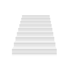 White stairs template set interior staircases in vector