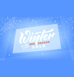 winter sale mid season winter banner with vector image