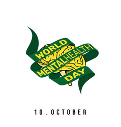 world mental health day vector image