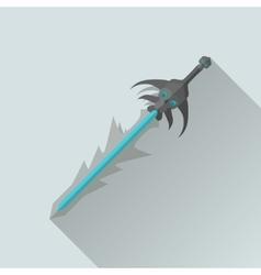 Cartoon Game Sword with Shadow War Concept vector image