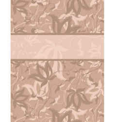 floral background with text field vector image vector image