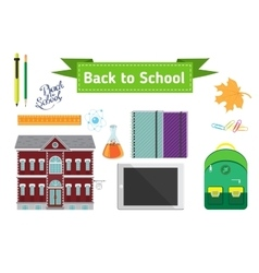 Hand drawn back to school lettering vector image
