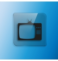 TV icon Flat design style EPS 10 vector image