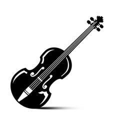 violin icon black musical instrument vector image vector image