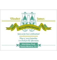 Wedding Invitation Card - Flower Theme vector image vector image