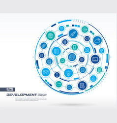 Abstract development and programming background vector