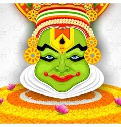 Colorful Kathakali Face vector image
