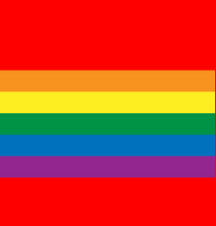 Lesbian gay bisexual and transgender flag vector