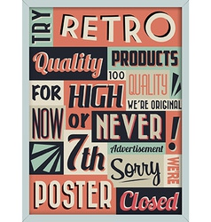 Retro Vintage Background with Typography vector image