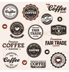 Vintage coffee labels vector