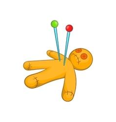 Voodoo doll icon cartoon style vector image