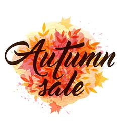 Abstract autumn background with falling leaves vector image vector image